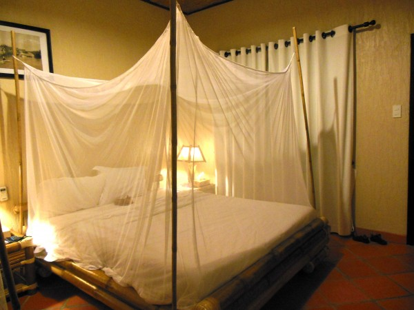 Mosquito net at Mekong Lodge Cai Be