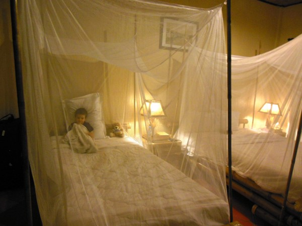 Mosquito nets at Mekong Lodge Vietnam